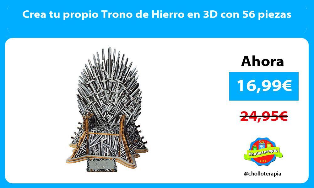 Crea tu propio Trono de Hierro en 3D con 56 piezas
