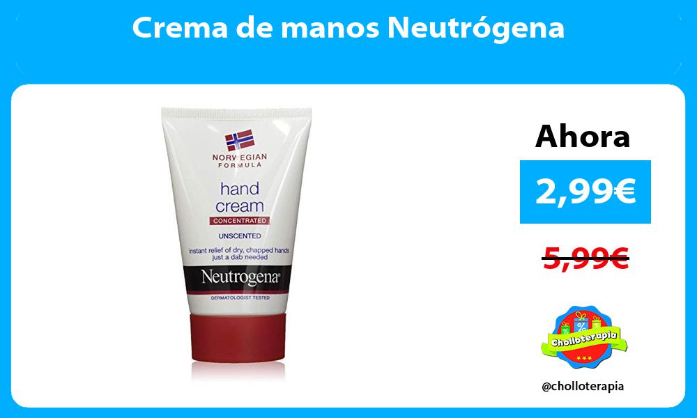Crema de manos Neutrógena