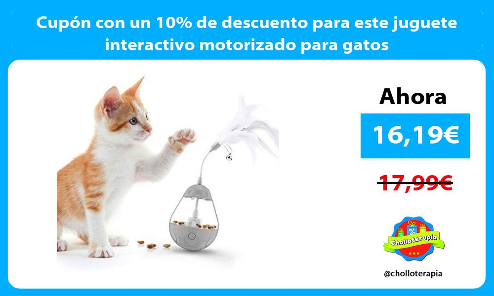 Cupón con un 10 de descuento para este juguete interactivo motorizado para gatos