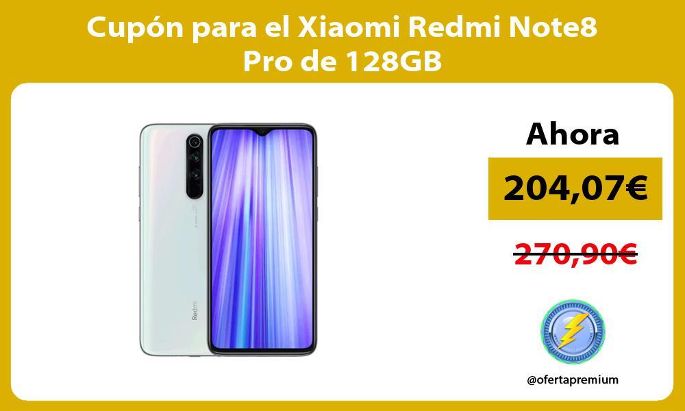 Cupón para el Xiaomi Redmi Note8 Pro de 128GB
