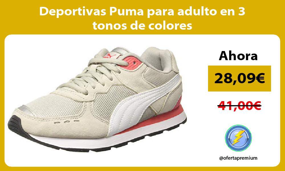 Deportivas Puma para adulto en 3 tonos de colores