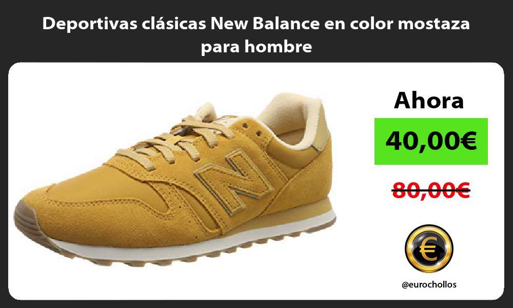 Deportivas clásicas New Balance en color mostaza para hombre