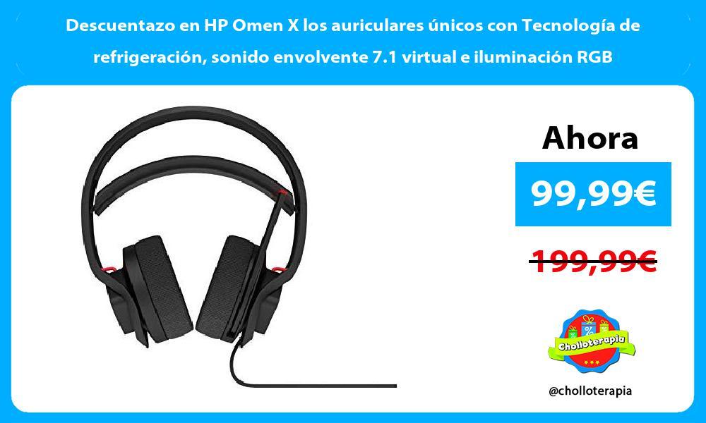 Descuentazo en HP Omen X los auriculares únicos con Tecnología de refrigeración sonido envolvente 7.1 virtual e iluminación RGB