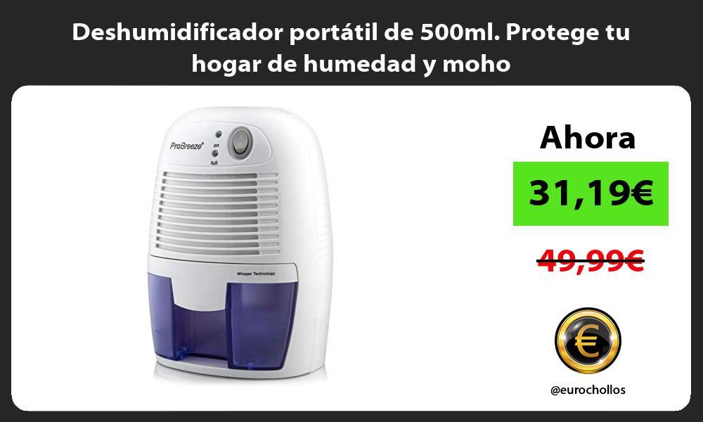 Deshumidificador portátil de 500ml Protege tu hogar de humedad y moho