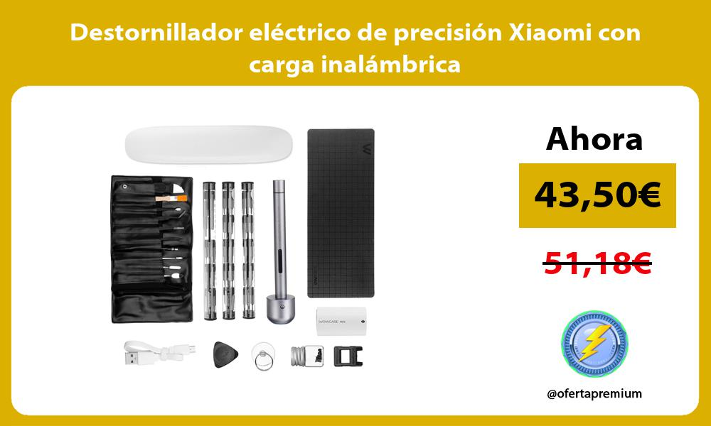 Destornillador eléctrico de precisión Xiaomi con carga inalámbrica