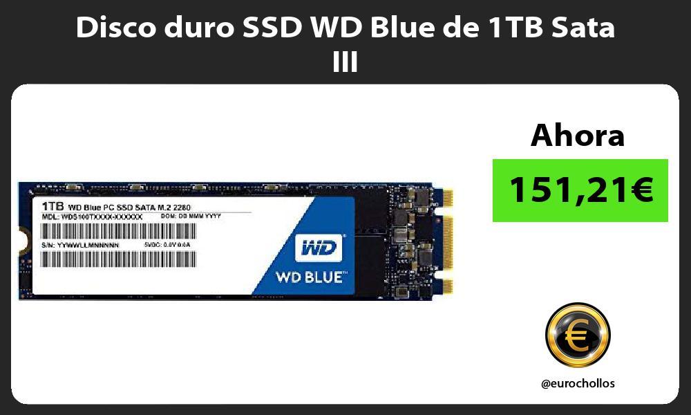 Disco duro SSD WD Blue de 1TB Sata III