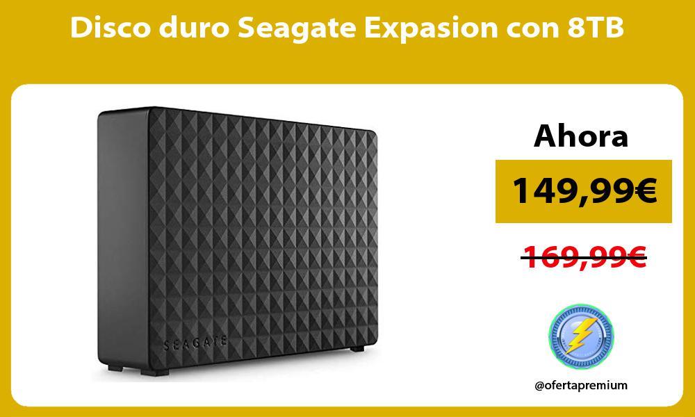 Disco duro Seagate Expasion con 8TB