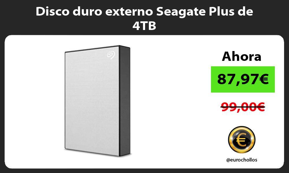 Disco duro externo Seagate Plus de 4TB
