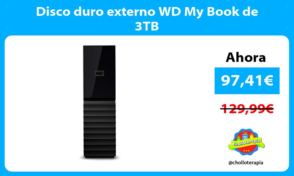 Disco duro externo WD My Book de 3TB