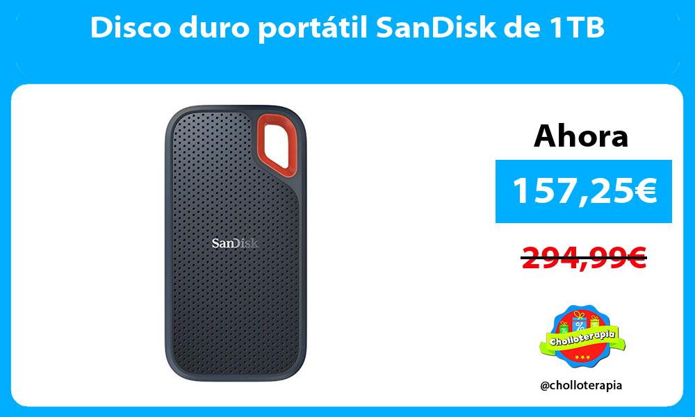 Disco duro portátil SanDisk de 1TB
