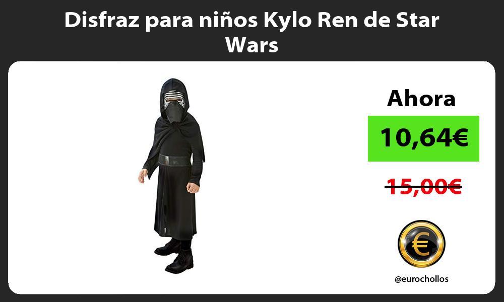 Disfraz para niños Kylo Ren de Star Wars