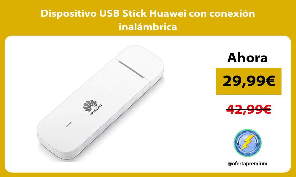 Dispositivo USB Stick Huawei con conexión inalámbrica