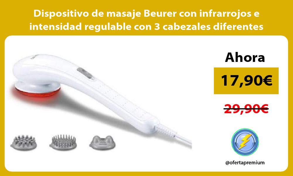 Dispositivo de masaje Beurer con infrarrojos e intensidad regulable con 3 cabezales diferentes