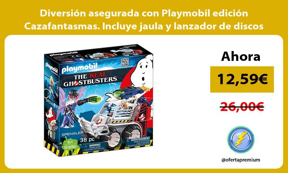 Diversión asegurada con Playmobil edición Cazafantasmas Incluye jaula y lanzador de discos