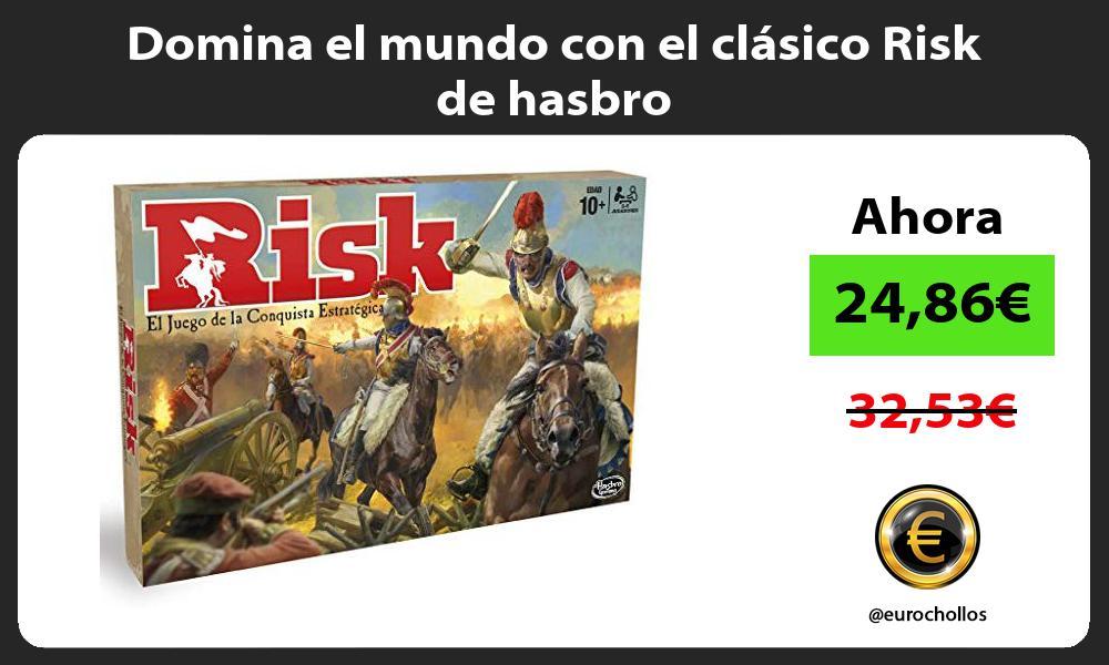 Domina el mundo con el clásico Risk de hasbro