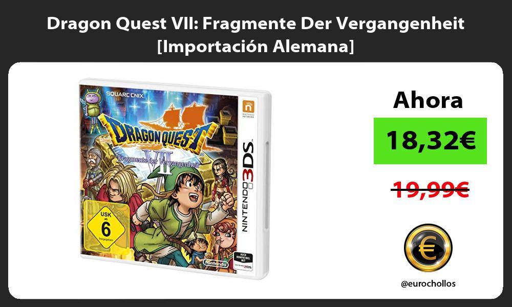 Dragon Quest VII Fragmente Der Vergangenheit Importación Alemana