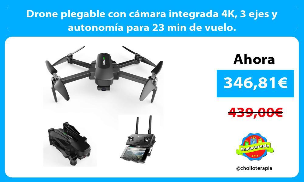 Drone plegable con cámara integrada 4K 3 ejes y autonomía para 23 min de vuelo
