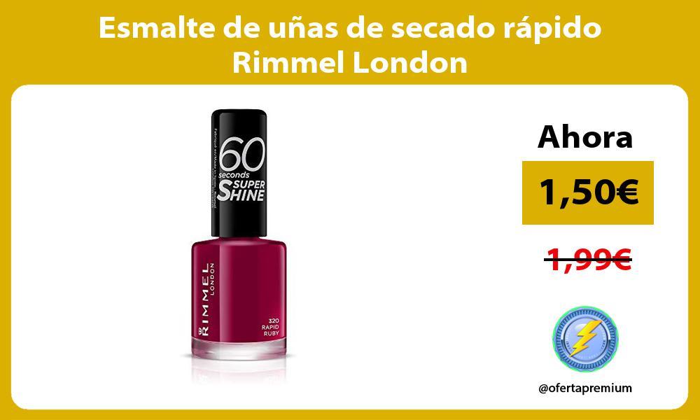 Esmalte de uñas de secado rápido Rimmel London