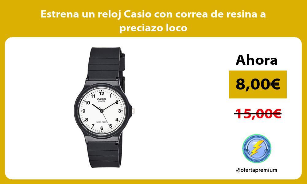 Estrena un reloj Casio con correa de resina a preciazo loco