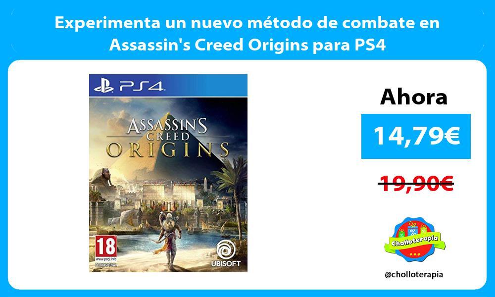 Experimenta un nuevo método de combate en Assassins Creed Origins para PS4