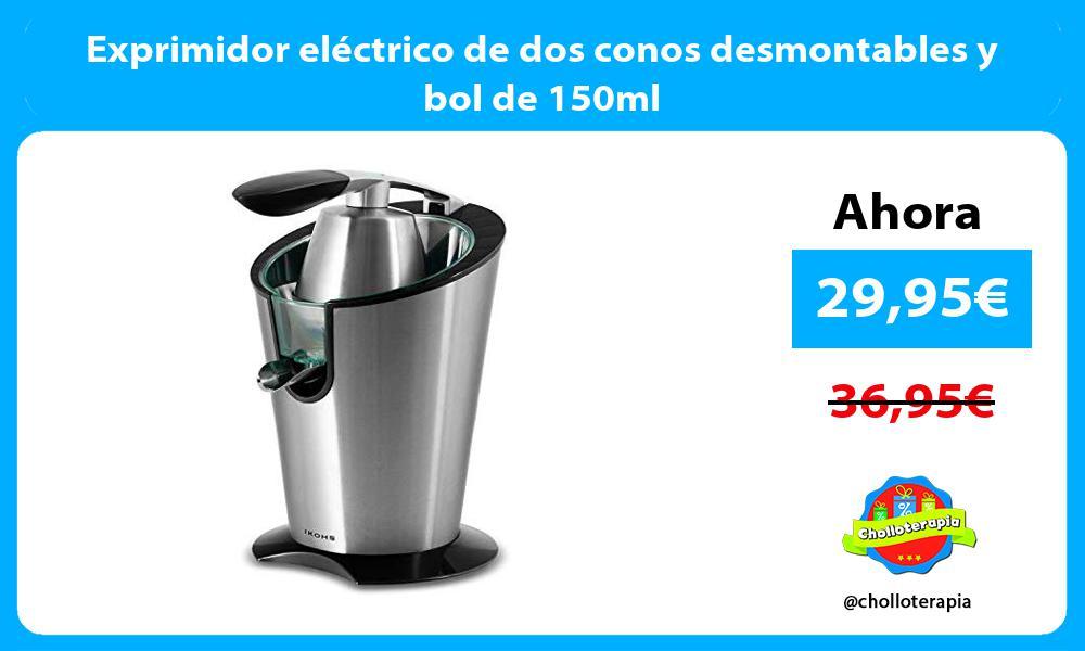 Exprimidor eléctrico de dos conos desmontables y bol de 150ml