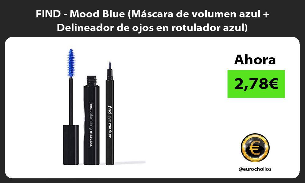 FIND Mood Blue Máscara de volumen azul Delineador de ojos en rotulador azul