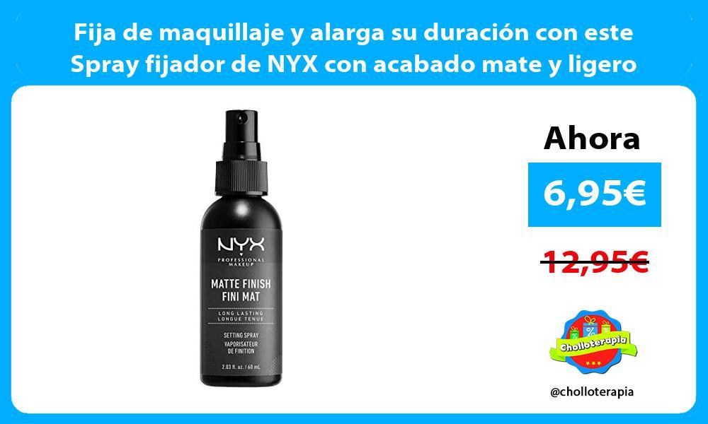 Fija de maquillaje y alarga su duración con este Spray fijador de NYX con acabado mate y ligero