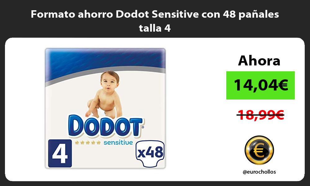 Formato ahorro Dodot Sensitive con 48 pañales talla 4