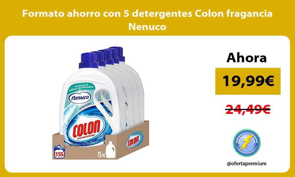 Formato ahorro con 5 detergentes Colon fragancia Nenuco