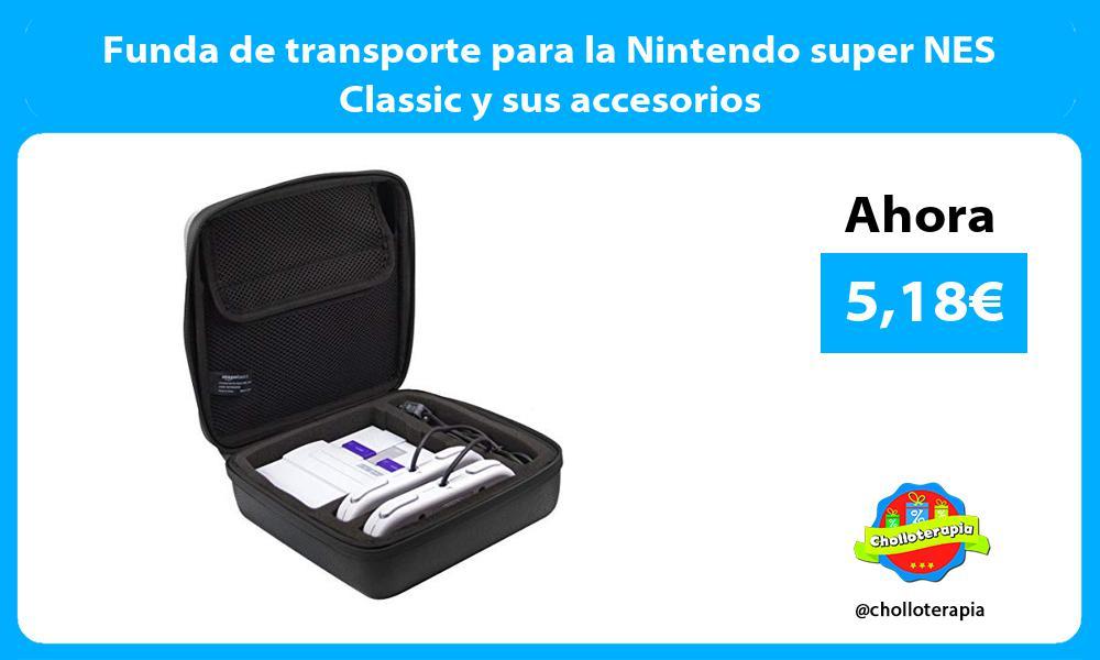 Funda de transporte para la Nintendo super NES Classic y sus accesorios