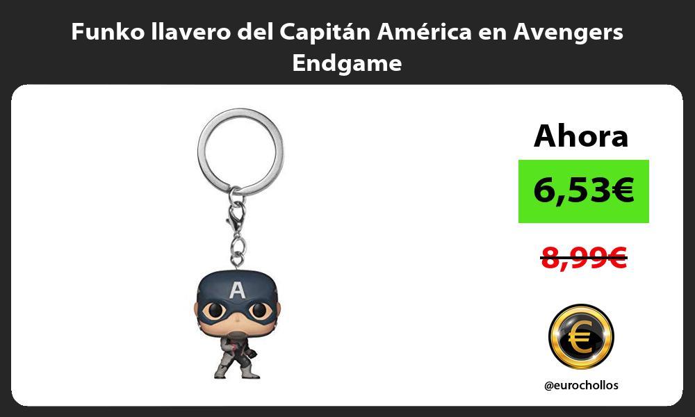 Funko llavero del Capitán América en Avengers Endgame