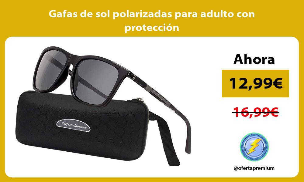 Gafas de sol polarizadas para adulto con protección