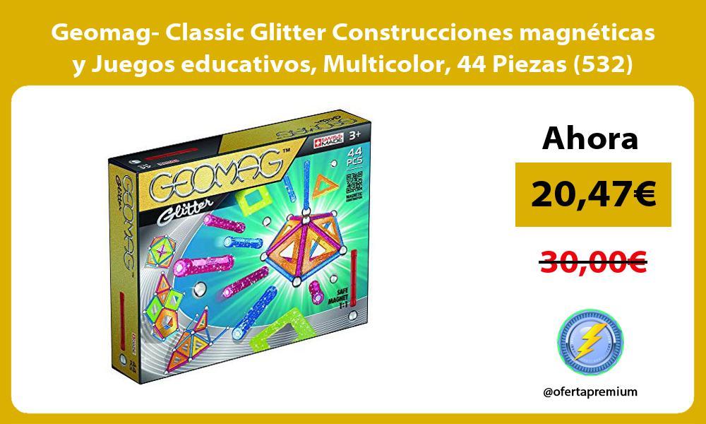 Geomag Classic Glitter Construcciones magnéticas y Juegos educativos Multicolor 44 Piezas 532