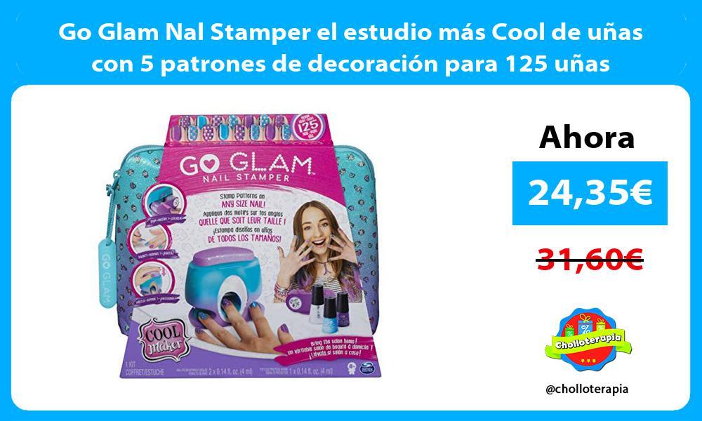 Go Glam Nal Stamper el estudio más Cool de uñas con 5 patrones de decoración para 125 uñas