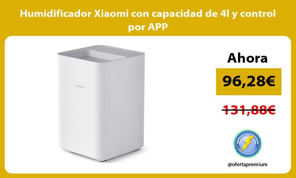 Humidificador Xiaomi con capacidad de 4l y control por APP