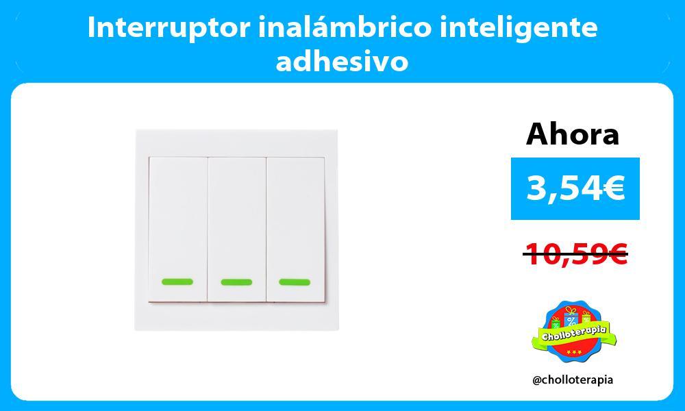 Interruptor inalámbrico inteligente adhesivo