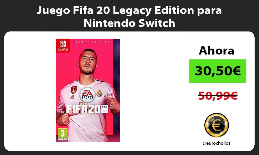 Juego Fifa 20 Legacy Edition para Nintendo Switch