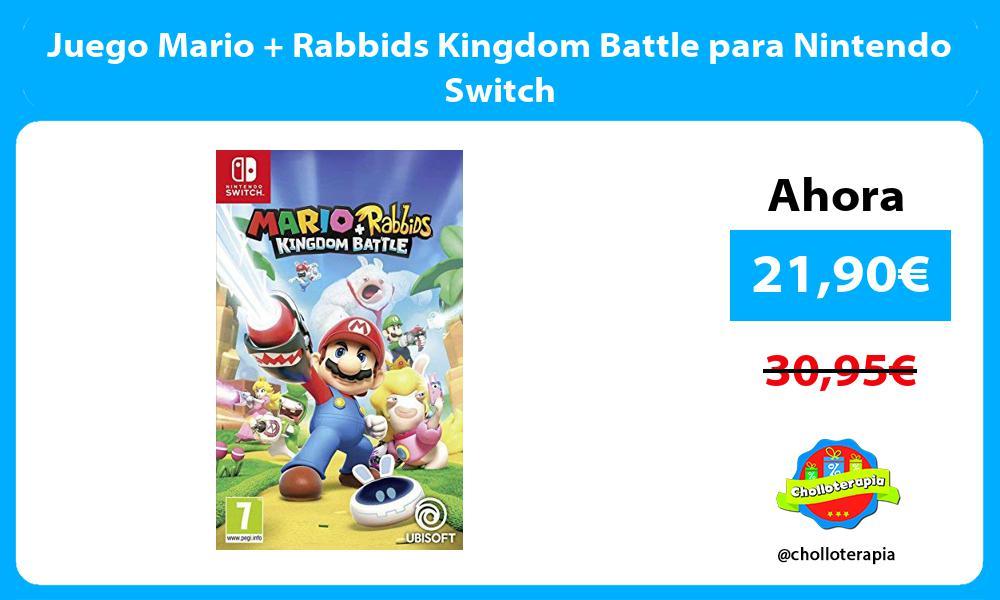 Juego Mario Rabbids Kingdom Battle para Nintendo Switch