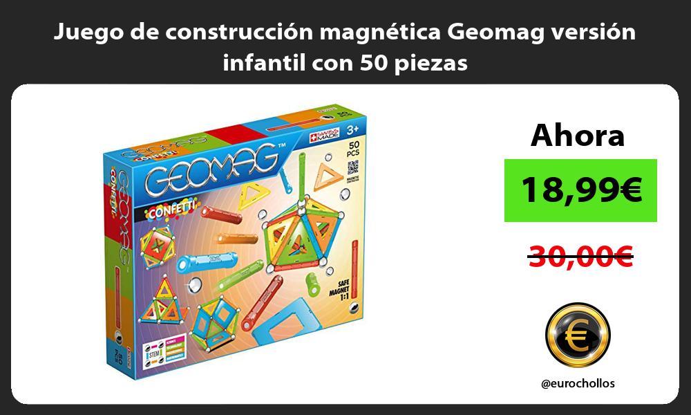 Juego de construcción magnética Geomag versión infantil con 50 piezas