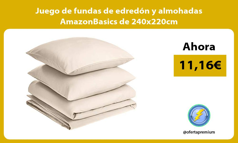 Juego de fundas de edredón y almohadas AmazonBasics de 240x220cm