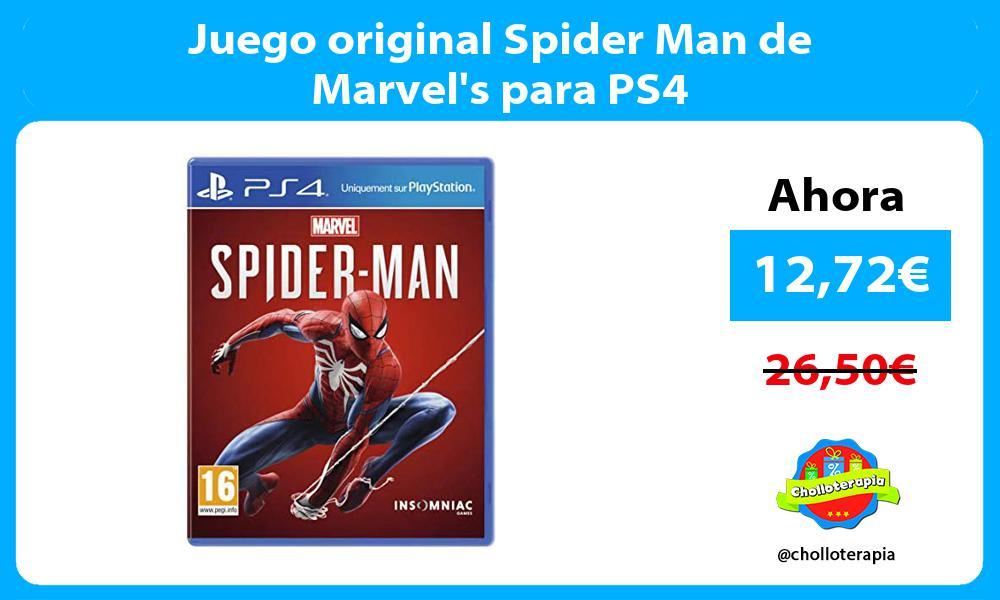 Juego original Spider Man de Marvels para PS4
