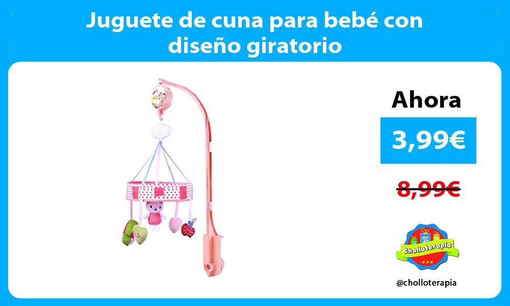 Juguete de cuna para bebé con diseño giratorio