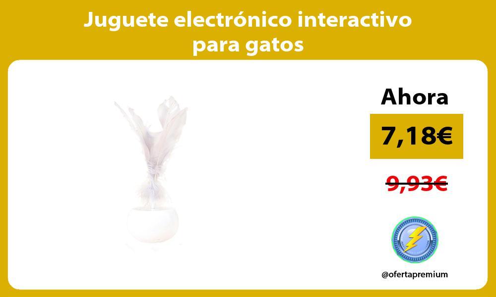 Juguete electrónico interactivo para gatos