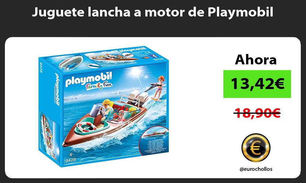 Juguete lancha a motor de Playmobil