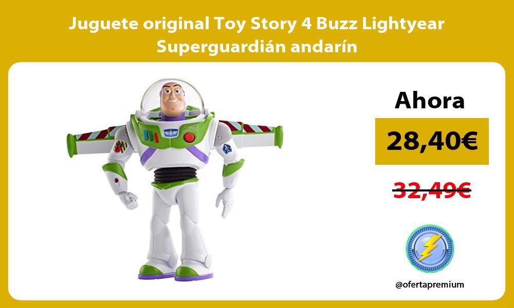 Juguete original Toy Story 4 Buzz Lightyear Superguardián andarín