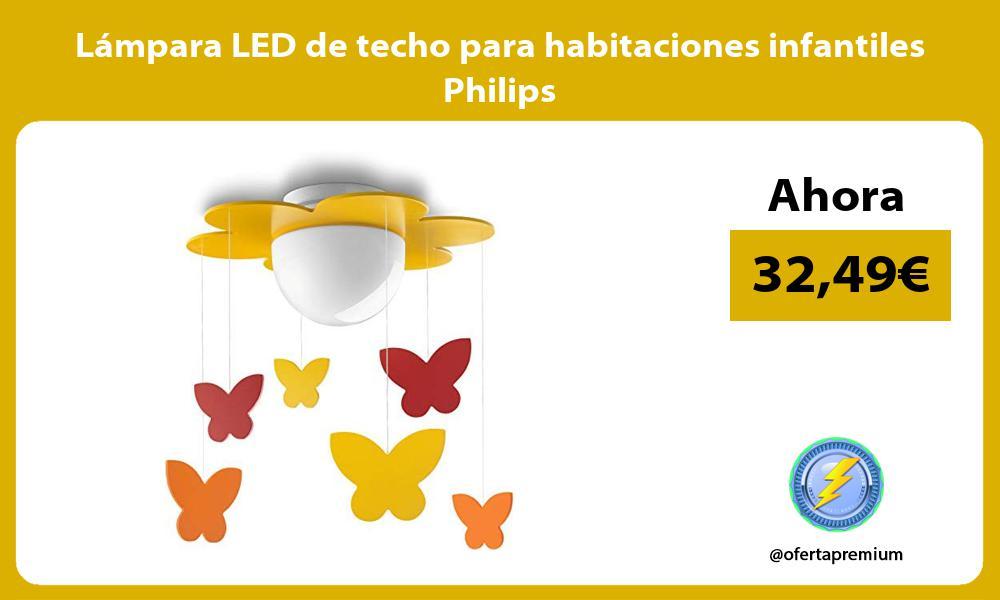 Lámpara LED de techo para habitaciones infantiles Philips