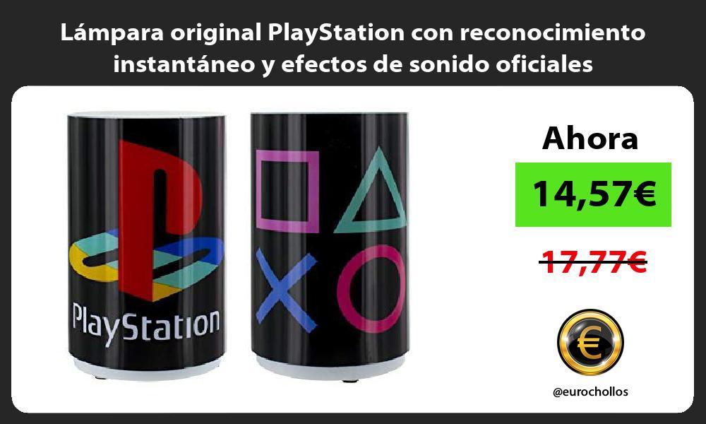 Lámpara original PlayStation con reconocimiento instantáneo y efectos de sonido oficiales