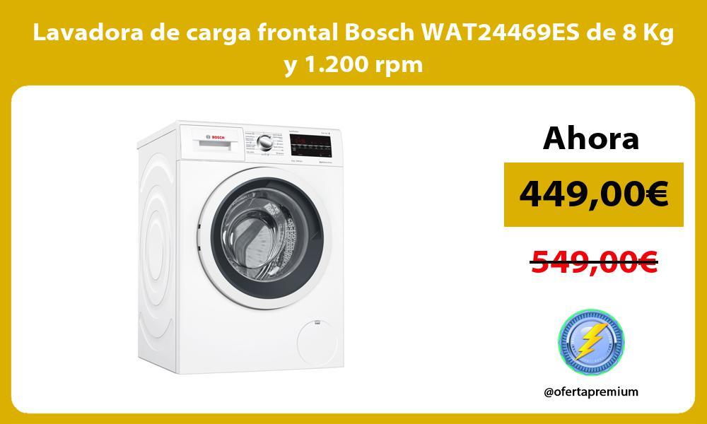 Lavadora de carga frontal Bosch WAT24469ES de 8 Kg y 1 200 rpm