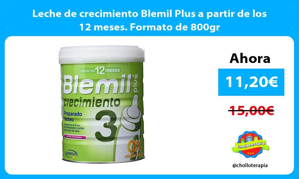 Leche de crecimiento Blemil Plus a partir de los 12 meses Formato de 800gr