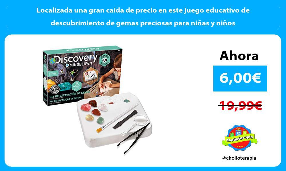 Localizada una gran caída de precio en este juego educativo de descubrimiento de gemas preciosas para niñas y niños